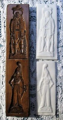 Vintage Springerle Speculaas Butter Cookie Stamp Press Mold - MILITARY OFFICERS