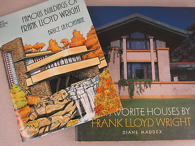 Lot 2 Frank Lloyd Wright 50 Favorite Houses HB Diane Maddex + COLORING BOOK RaRe