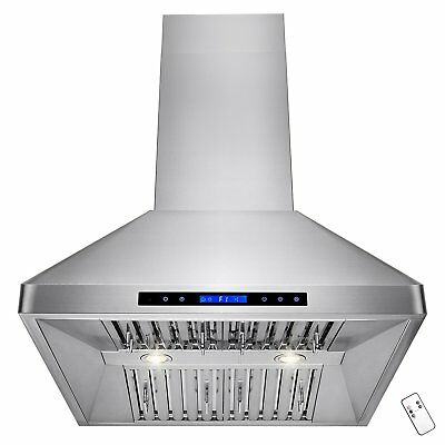 """AKDY 30"""" Stainless Steel Wall Mount Style Touch Screen Control Kitchen Vent Fan"""