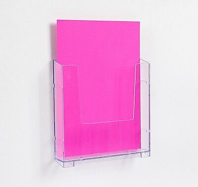 Wall Mounted Plastic Perspex A4 Brochure Holder Display Modular BWA4