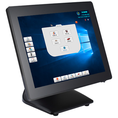 "Intel Core i5 point of sale terminal 15"" Touch Flat Panel WIN 10 Restaurant POS"