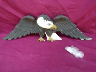 An Antique Large  Heralded American Eagle Solid Bronze And Hand Painted ....