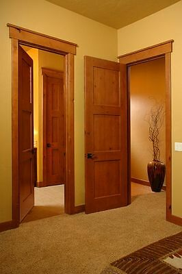 6/8 Pre-Hung Knotty Alder 3 Panel Mission/shaker Style Interior Doors