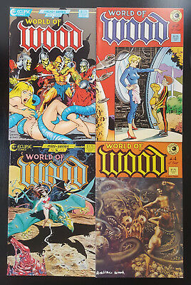 World of Wood #1-4 Set (1986 Eclipse) 2 3 Wally Wood Dave Stevens Limited Series