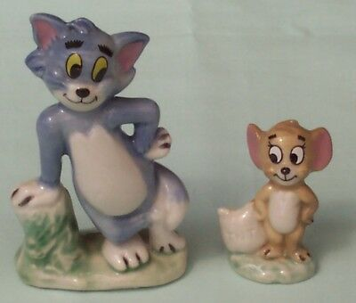 WADE  Whimsies TOM and JERRY Figurines MGM England c1970's