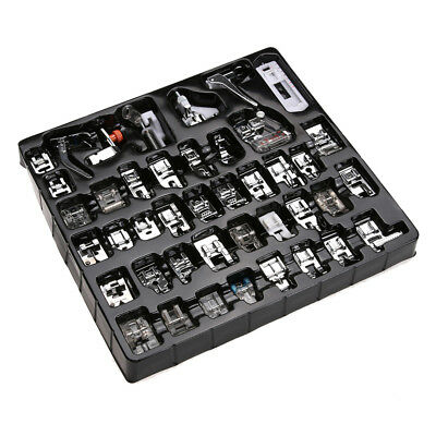 Hot 42 Pcs Domestic Sewing Machine Stitch Darning Presser Foot Feet Kit Set Home