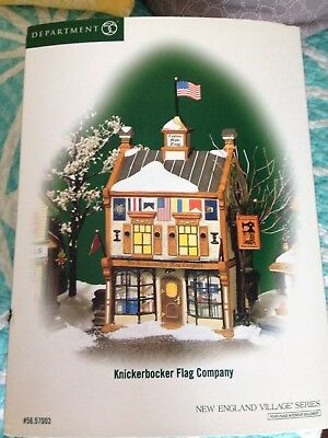 Department 56 New England Village Series Knickerbocker Flag Company