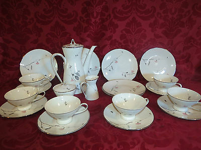 21 PC. Rosenthal Studio Linie Cherry Blossom  Dessert Set for six