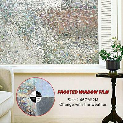 PVC Frosted Glass Film Static Cling Office Bedroom Bathroom Home Window Decor