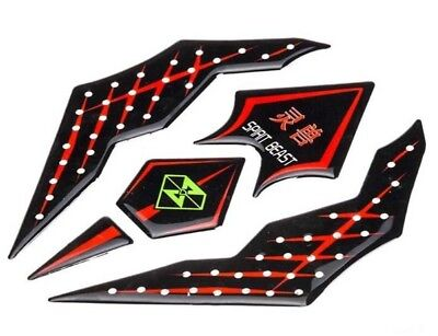 3D Soulkeeper Motorcycle Fuel Tank Pad Protector Decal Gel Sticker Strong 2#