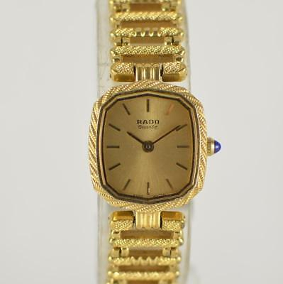 Vintage Womens Rado Gold Color Ornate Swiss Made Watch 133.9563.2