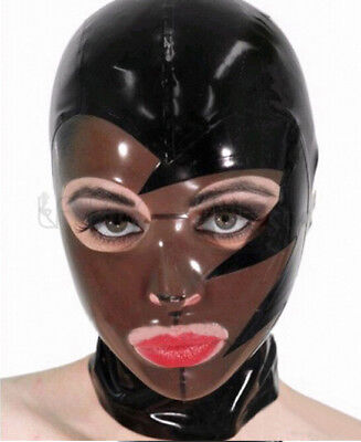 Fetish Cosplay Costumes Latex Rubber Club Unisex Hood Mask Party Wear Unique