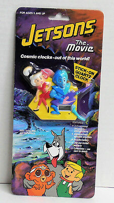 1990 Jetsons the Movie Rock 'N Roll with Judy and Appollo Stick-On Clock NIP