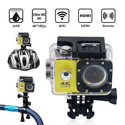 F60 Waterproof 4K Wifi HD 1080P Ultra Sports Action Camera DVR Cam Camcorder US