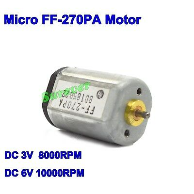 For MABUCHI FF-270PA DC 3V 5V 6V 10000RPM High Speed Mini Carbon Brush Motor DIY