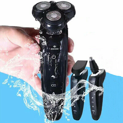 New Deluxe Rotary 5D Rechargeable Washable Men's Cordless Electric Shaver Razor