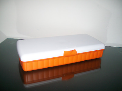 Tupperware Lunch 'n Things Orange White Lunch Box Sandwich Crafts Tools Rare New