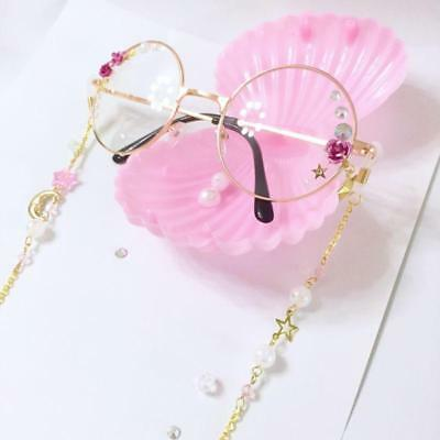 Japanese Vintage Harajuku Sweet Lolita Star Moon Gothic Chain DIY Glasses gift A