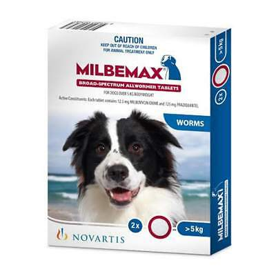 Milbemax All Wormer for Dogs 5 to 25kg - 2 Pack