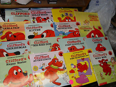 Clifford the Big Red Dog-Lot of 16 PB's for Kids-Family-Teasing/Some Readers