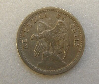 Chile Coin 20 Cents Centavos 1940 22mm