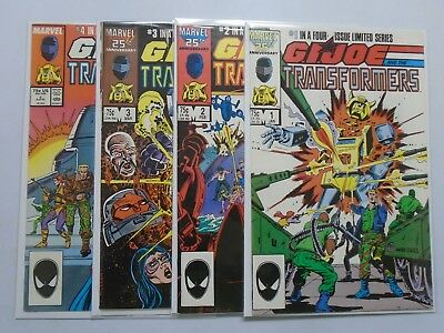 GI Joe and the Transformers (1987) #1-4 Set - 8.0 VF - 1987