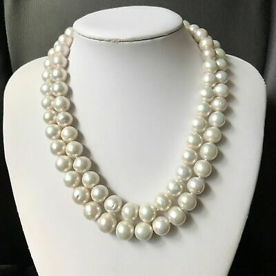 Freshwater Pearl Necklace Earring Set S925 Silver Bridesmaid Gift