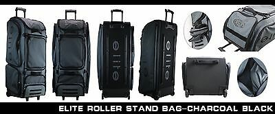 Elite Sports Wheel Stand Up Roller Bag Travel Baseball Bag Catcher's Bag
