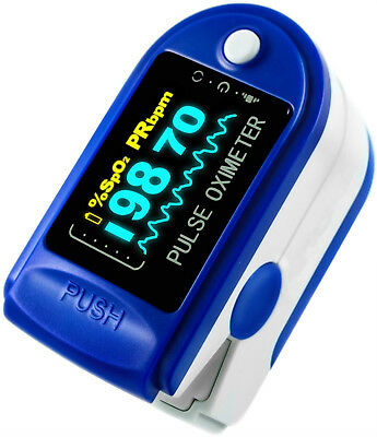 OLED Finger Pulse Oximeter Portable SPO2 Sensor Pulse Heart Rate Monitor,US FDA