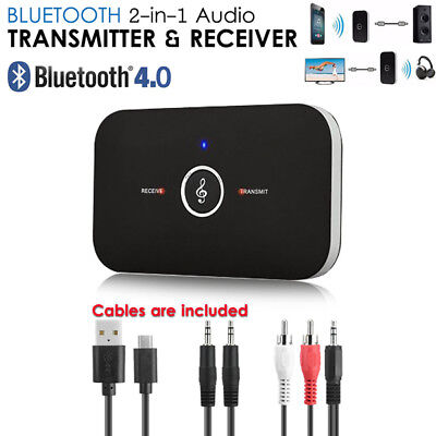 AU HIFI Wireless Bluetooth Audio Transmitter Receiver 3.5MM RCA Music Adapter