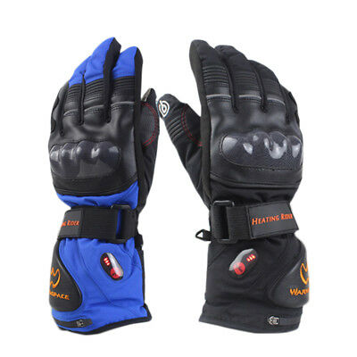 Pair Of Electric 5600mAh Rechargeable Battery Heated Winter Warm Gloves Mittens
