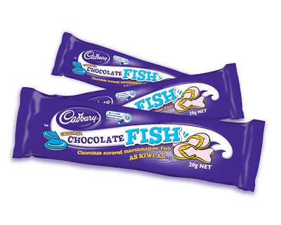 20 x Cadbury milk chocolate fish 20g - New Zealand lollies -