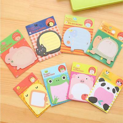 20 Pages ZOO Cartoon Sticker Post It Bookmark Marker Flags Pad Tab Sticky Notes