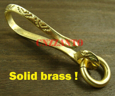 Totally Brass Fob Wallet key chain ring Belt hook clip H166