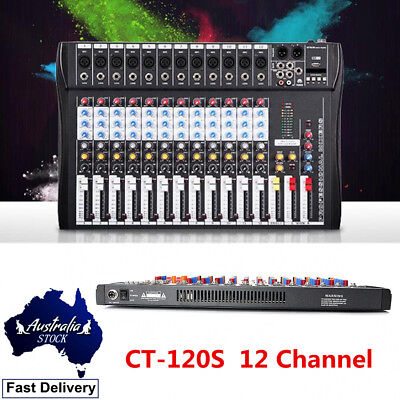CT-120S Professional Studio Audio Mixer 12 Channel USB Live Mixing Console