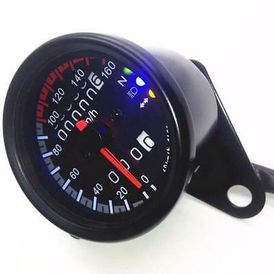 Pro Motorcycle Round Type ATV LED Dual Backlight Odometer KMH Speedometer Gauge