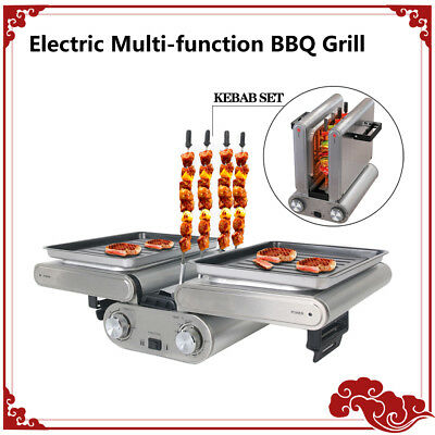 Electric BBQ griddle Multi-function grilling Pan-fried kebab CE timer Thermostat