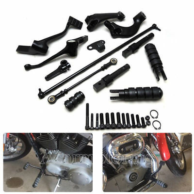 Forward Controls Pegs Levers Linkages For Harley Sportster XL883 1200 Iron 04-13