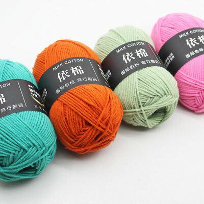 New 1Ball x50g Hand knitting Crochet Combed milk cotton baby Cotton Yarn Chunky