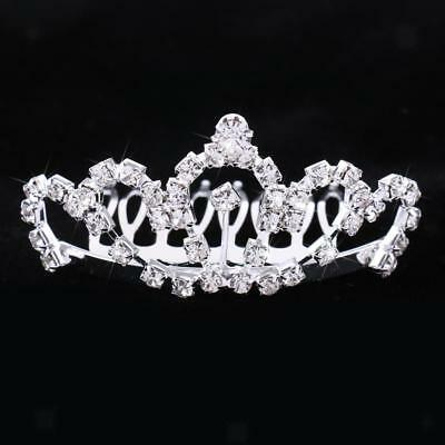 Silver Shiny Crystal Hair Comb Clip Tiara Wedding Prom Bridal Party Jewelry