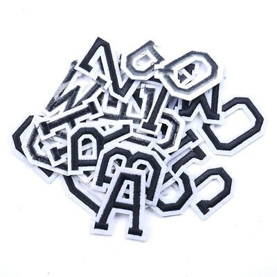 5pcs/1set  Alphabet Letter A-Z Embroidered Iron On Patch Sew Applique Accessory