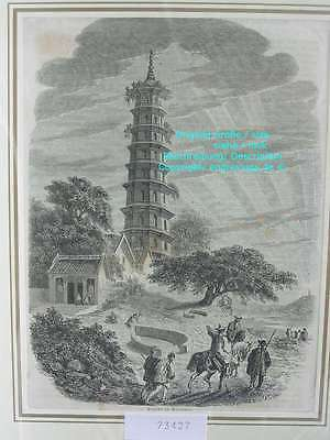 73427-Asien-Asia-China-Huangpu-Pagode-Whampoa-T Holzstich-Wood engraving-1860