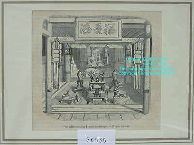 76535-Asien-Asia-China-Temple bouddhique-Buddha-T Holzstich-Wood engraving