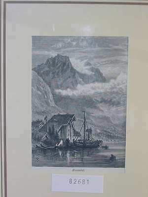 82681-Norwegen-Norway-Norge-Rosendal-T Holzstich-Wood engraving