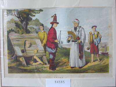 84585-Asien-Asia-China-Trachten-Costumes-Folter-Torture-Lithographie-Lithography