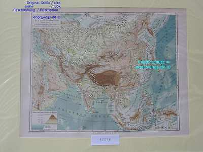 42056-Asien-Asia-LANDKARTE-KARTE-MAP-Lithographie-Lithography-1890