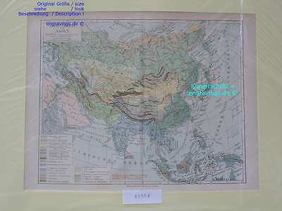 42054-Asien-Asia-LANDKARTE-KARTE-MAP-Lithographie-Lithography-1890