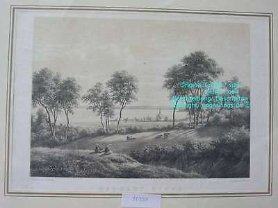70300-Schleswig-Holstein-Haddeby Kirke-Lithographie-Lithography-1855