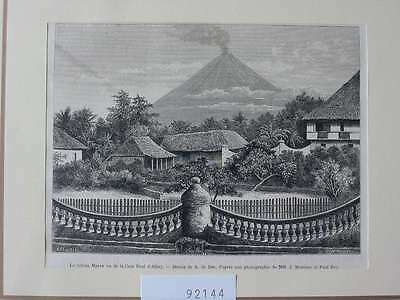 92144-Philippinen-Philippines-Pilipinas-Mayon Vulkan-T Holzstich-Wood engraving