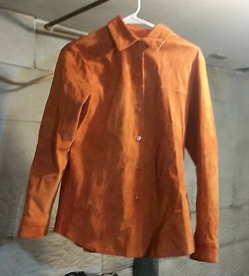 vintage PENDELTON RUST COLORED LEATHER SHIRT  - ladies size small